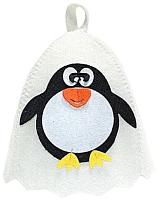 Шапка для бани Главбаня Пингвин / Б41005 (белый) -