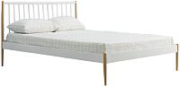 Полуторная кровать Halmar Lemi 120x200 (белый/дуб натуральный) -