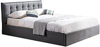 Двуспальная кровать Halmar Padva 160x200 (серый) -