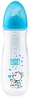 Бутылочка для кормления Happy Care Classic с силиконовой соской / 12111 (260мл, синий) -