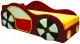 Кровать-тахта детская М-Стиль Машинка аппликация с 2 сторон -