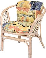 Кресло садовое Мир Ротанга Багама 01/17В с подушкой (белый) -