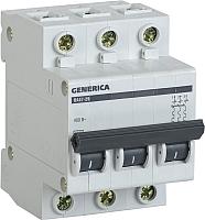 Выключатель автоматический Generica ВА 47-29 3Р 16А 4.5кА / MVA25-3-016-C -