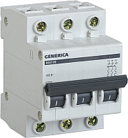 Выключатель автоматический Generica ВА 47-29 3Р 10А 4.5кА / MVA25-3-010-C -