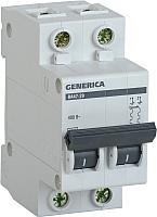 Выключатель автоматический Generica ВА 47-29 2Р 20А 4.5кА / MVA25-2-020-C -