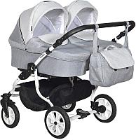 Детская универсальная коляска INDIGO Charlotte 18 Duo (Ch 34, серый/светло-серый) -