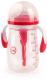 Бутылочка для кормления Happy Baby Антиколиковая с силиконовой соской / 10020 (300мл, ruby) -