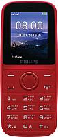 Мобильный телефон Philips Xenium E109 (красный) -