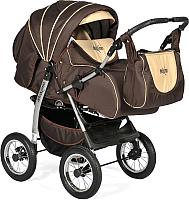 Детская универсальная коляска INDIGO Maximo (Ma 01, бронзовый/светло-бежевый) -