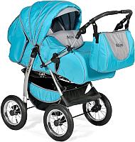 Детская универсальная коляска INDIGO Maximo (Ma 05, голубой/графитовый) -