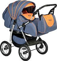 Детская универсальная коляска INDIGO Maximo (Ma 07, темно-графитовый/оранжевый) -