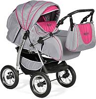 Детская универсальная коляска INDIGO Maximo (Ma 11, графитовый/фуксия) -