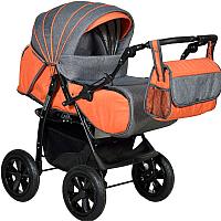 Детская универсальная коляска INDIGO Sancho Len (Sa 06, оранжевый/серый) -