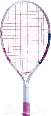 Теннисная ракетка Babolat B'FLY Gr000 5-7лет / 140243 (белый/розовый/синий)