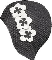 Шапочка для плавания Fashy Babble Cap with Flowers / 3119-20 (черный/белый) -