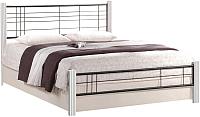 Полуторная кровать Halmar Viera 120х200 (белый/черный) -