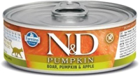 Корм для кошек Farmina N&D Grain Free Pumpkin Boar & Apple (80г) -