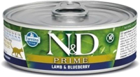 Корм для кошек Farmina N&D Cat Prime Lamb & Blueberry (80г) -