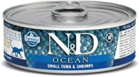Корм для кошек Farmina N&D Grain Free Ocean Tuna & Shrimp (80г) -