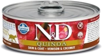 Корм для кошек Farmina N&D Grain Free Quinoa Venison & Coconut (80г) -