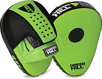Боксерская лапа Green Hill FM-5250 (зеленый/черный) -