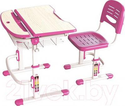 Парта+стул Sundays C302 (розовый) - общий вид