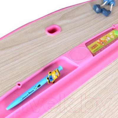 Парта+стул Sundays C302 (розовый) - паз для ручек