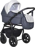 Детская универсальная коляска INDIGO Charlotte 18 2 в 1 (Ch 33, темно-серый/светло-серый) -