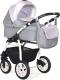 Детская универсальная коляска INDIGO Charlotte 18 2 в 1 (Ch 36, серый/светло-розовый) -