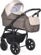 Детская универсальная коляска INDIGO Charlotte 18 2 в 1 (Ch 37, коричневый/бежевый) -