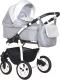 Детская универсальная коляска INDIGO Charlotte 18 F 3 в 1 (Ch 34, серый/светло-серый) -