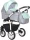 Детская универсальная коляска INDIGO Charlotte 18 F 3 в 1 (Ch 35, серый/мятный) -