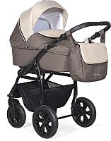 Детская универсальная коляска INDIGO Charlotte 18 F 3 в 1 (Ch 37, коричневый/бежевый) -