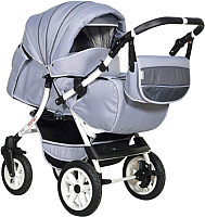 Детская универсальная коляска INDIGO Capri Pco (Cp 09, светло-серый/темно-серый) -