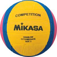 Мяч для водного поло Mikasa W6608 5W (желтый/синий/розовый, р-р 3) -