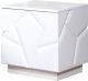 Прикроватная тумба Мебель-КМК Кензо 0674.8 (белый/белый глянец) -