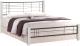 Двуспальная кровать Halmar Viera 160x200 (белый/черный) -