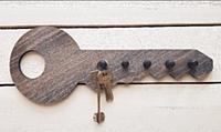 Ключница настенная Grifeldecor Ключ 35х13х2,8 (коричневый) -