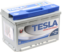 Автомобильный аккумулятор TESLA Premium Energy (75 А/ч) -