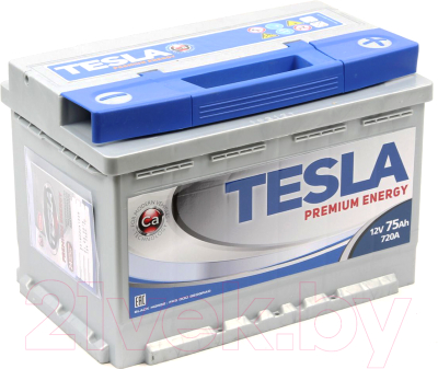 Автомобильный аккумулятор TESLA Premium Energy R / TPE75.0 low