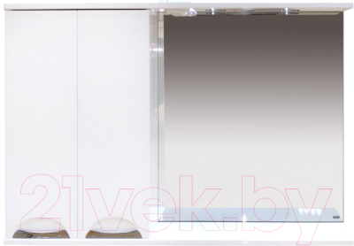 Шкаф с зеркалом для ванной Misty Куба-120 L / П-Куб-01120-011Л