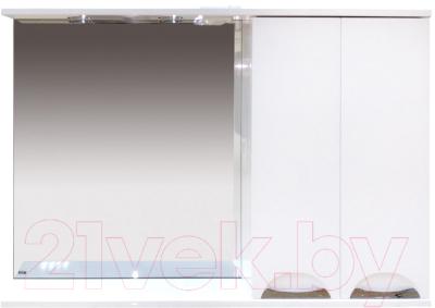Шкаф с зеркалом для ванной Misty Куба-120 R / П-Куб-01120-011П