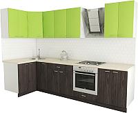Готовая кухня Хоум Лайн Луиза Люкс 1.2x3.0 (флитвуд серая лава/зеленый лайм) -