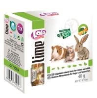 Кормовая добавка для животных Lolo Pets Минеральный камень с овощами для грызунов / LO 71059 (40г) -