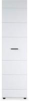 Шкаф-пенал Империал Йорк 1-дверный (белый жемчуг/белый глянец) -