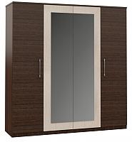 Шкаф Империал Аврора 4-х дверный (венге/дуб молочный) -