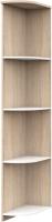 Угловое окончание для шкафа Империал Аврора (дуб сонома/белый) -