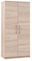 Шкаф Империал Аврора 2-х дверный (дуб сонома/белый) -