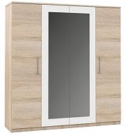 Шкаф Империал Аврора 4-х дверный (дуб сонома/белый) -