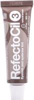 Краска для бровей RefectoCil Eyelash and Eyebrow Tint 3 натуральный коричневый (15мл) -